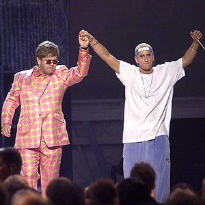 Eminem and Elton John Performing Stan at Grammys 2001 001