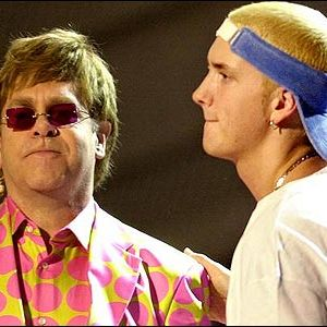 Eminem and Elton John Performing Stan at Grammys 2001 002