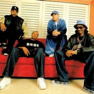 Eminem, Dr Dre, Snoop Doog, and Ice Cube