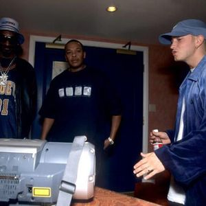 Eminem, Snoop Dogg and Dr Dre (2000) with stereo